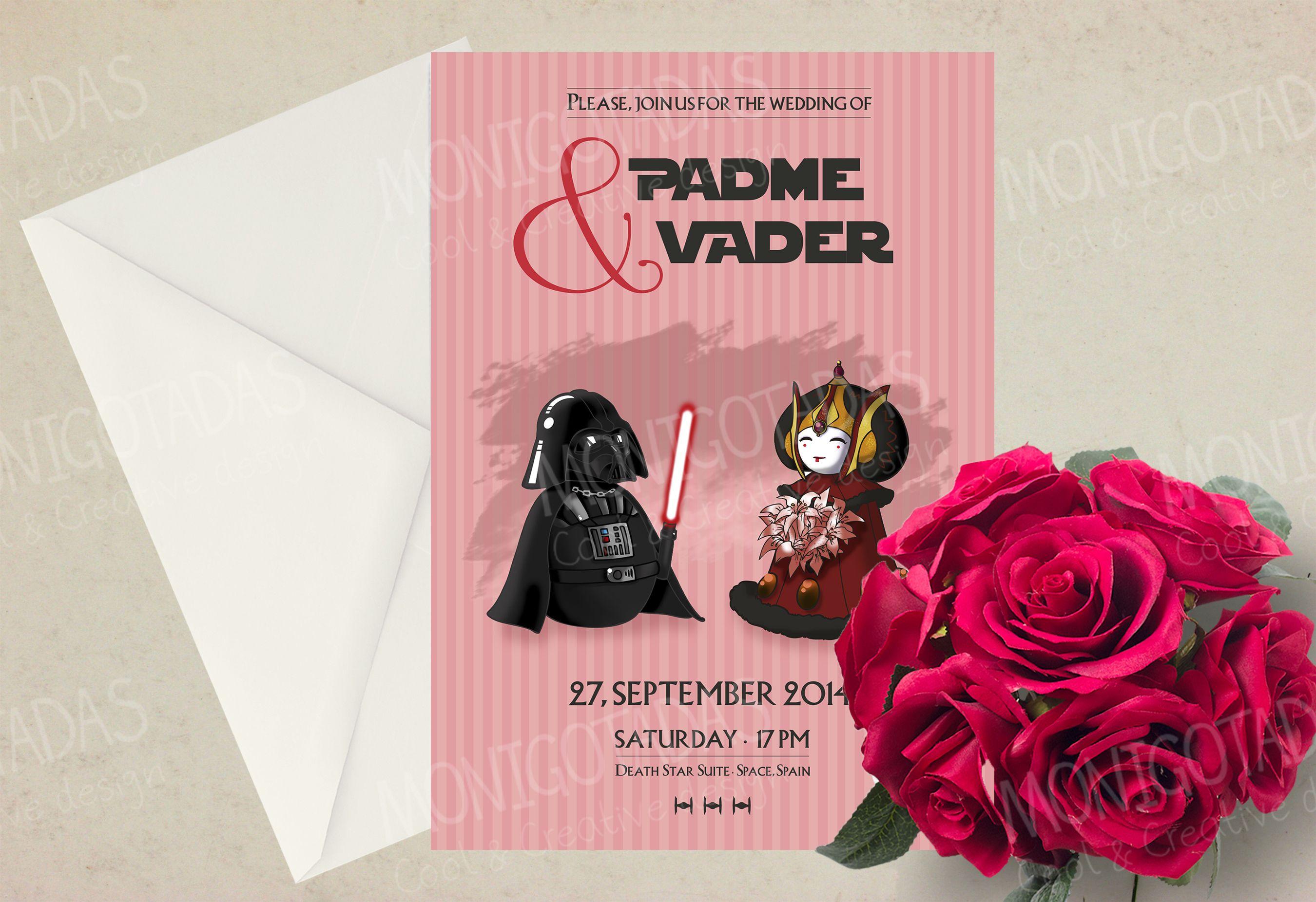 Invitaciones de boda Star Wars / Wedding Invitations Star Wars ...