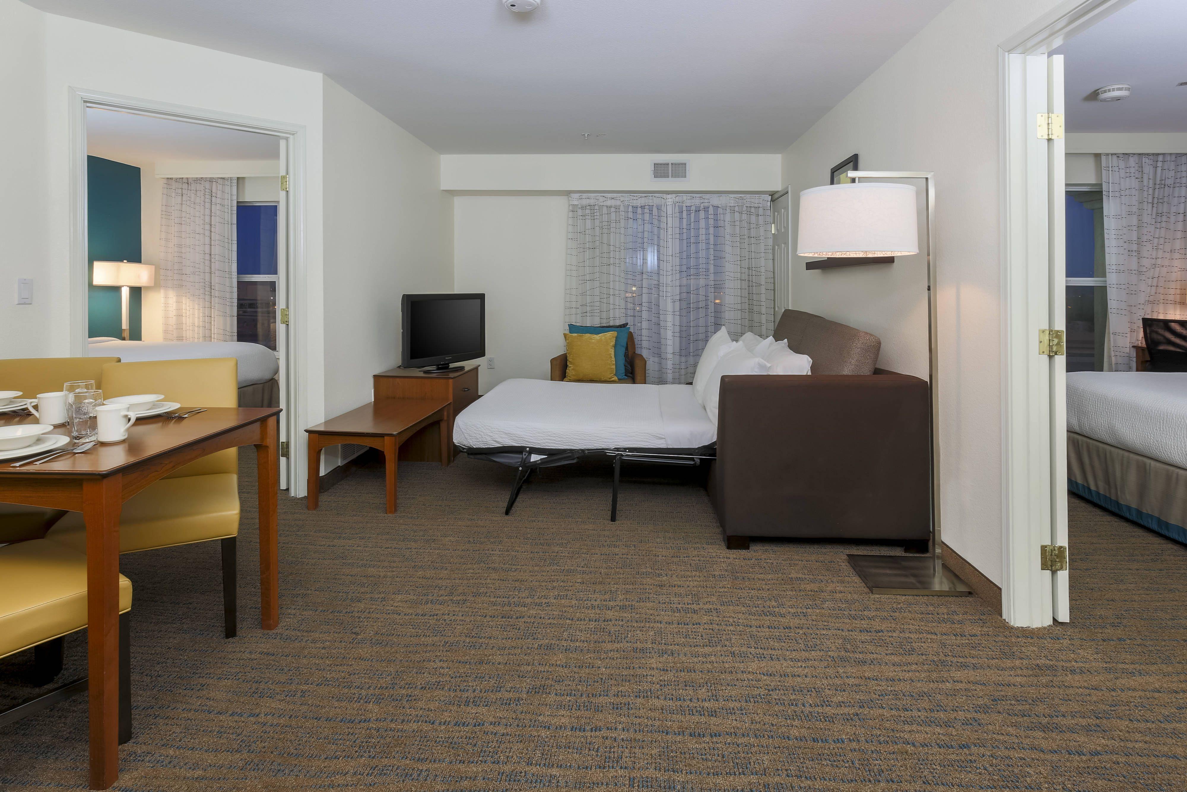 Residence Inn Las Vegas South Two Bedroom Suite Sofa Bed