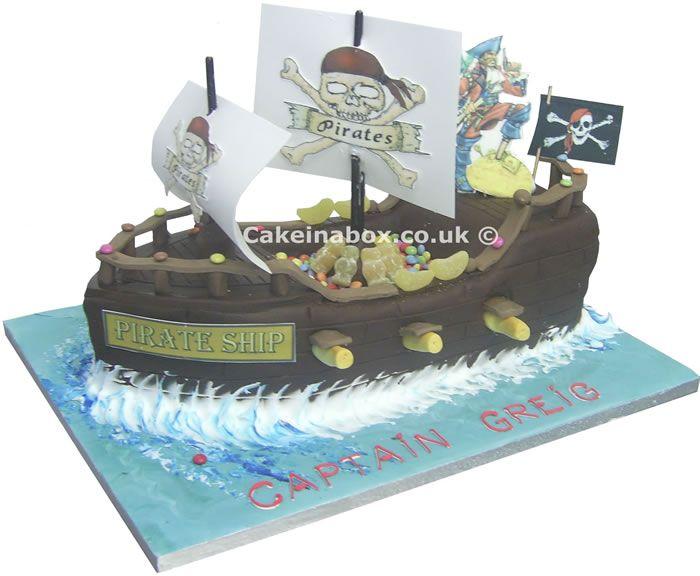 Pirate Ship Birthday Cake Things for Matt Pinterest Pirate
