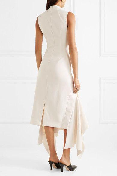 Affordable Cheap Online Klara Asymmetric Crepe Midi Dress - Off-white Solace London Authentic Cheap Price Order Online Discount Big Sale Cheap Sale Best Prices R2xBza