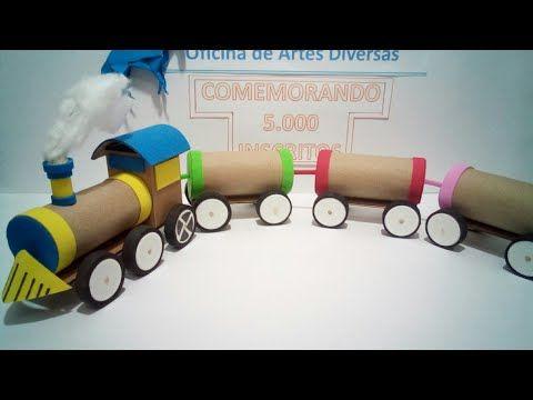 Trenzinho de rolo de papel higiênico