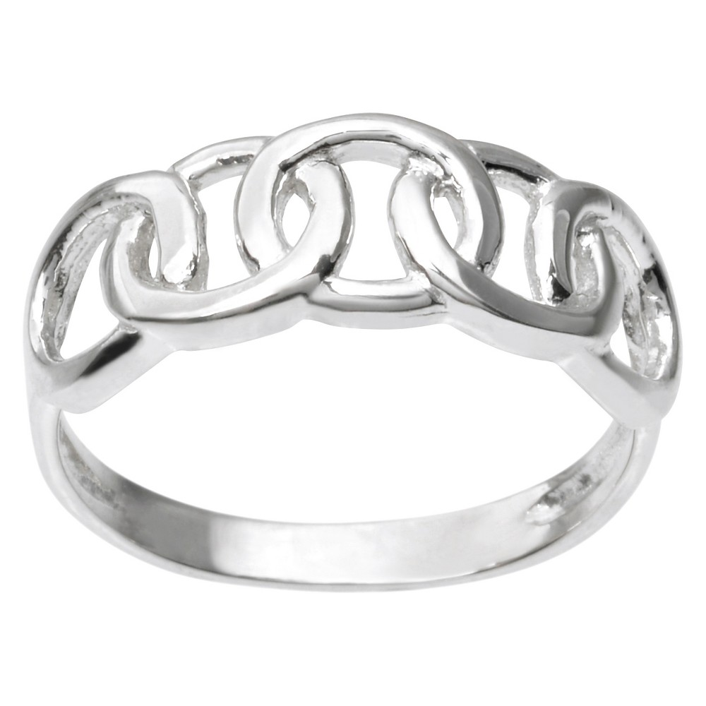 Women's Journee Collection Circle Design Ring in Sterling Silver - Silver (