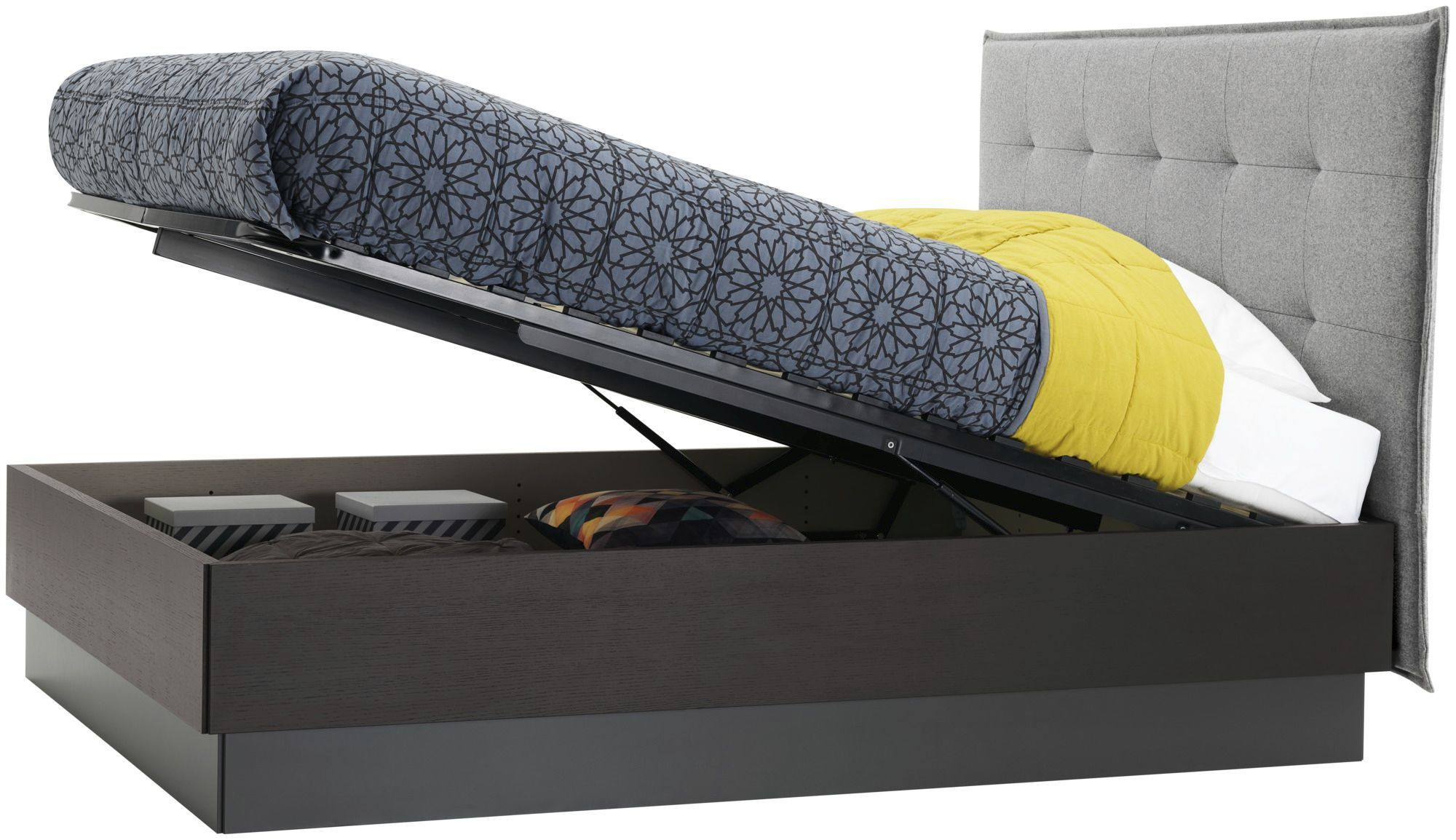 Lit Coffre Vegas Groupon Lugano Double Bed Contemporary With Upholstered