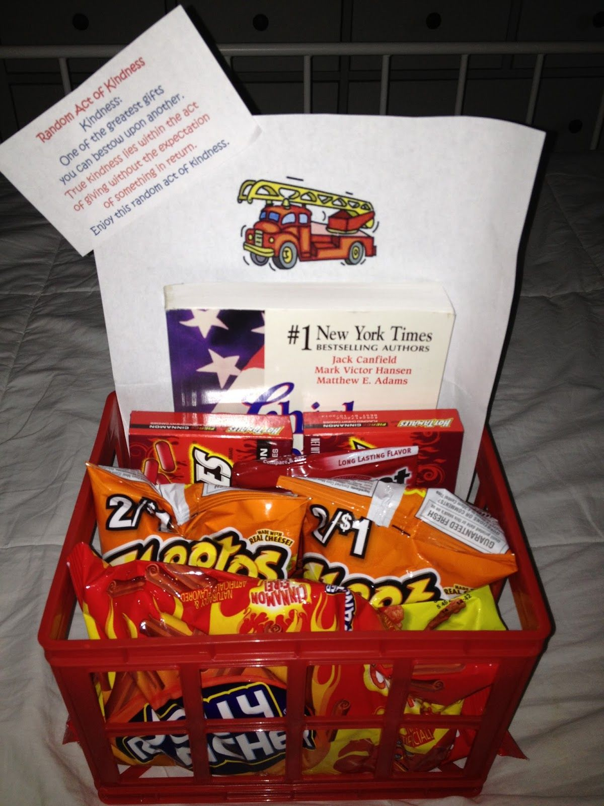 August 11 A Little Goodie Basket For The Local Fire Department Goodie Basket Firefighter Gifts Teacher Gifts