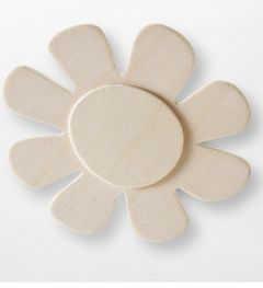Wooden Flower Shapes x 30