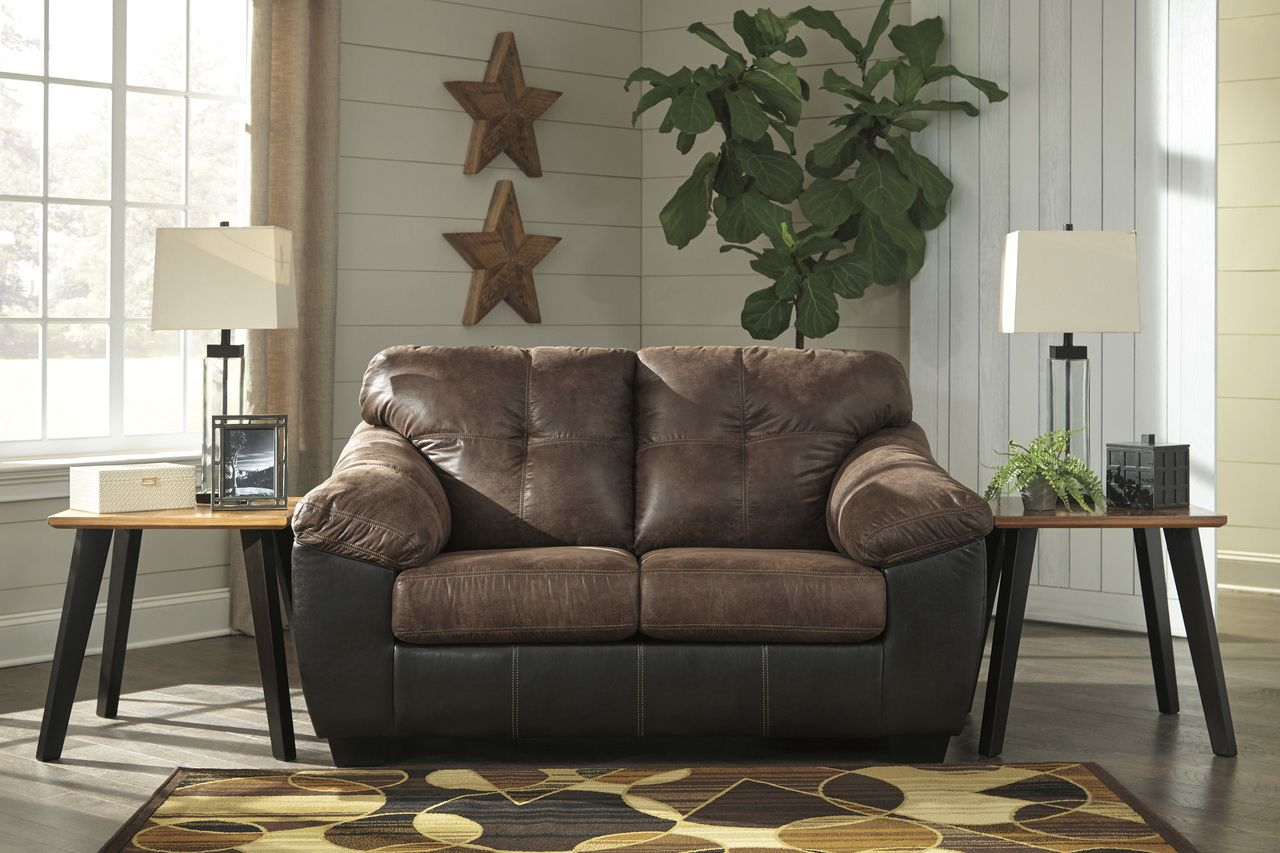 Signature Design By Ashley Gregale Coffee Love Seat Savvy