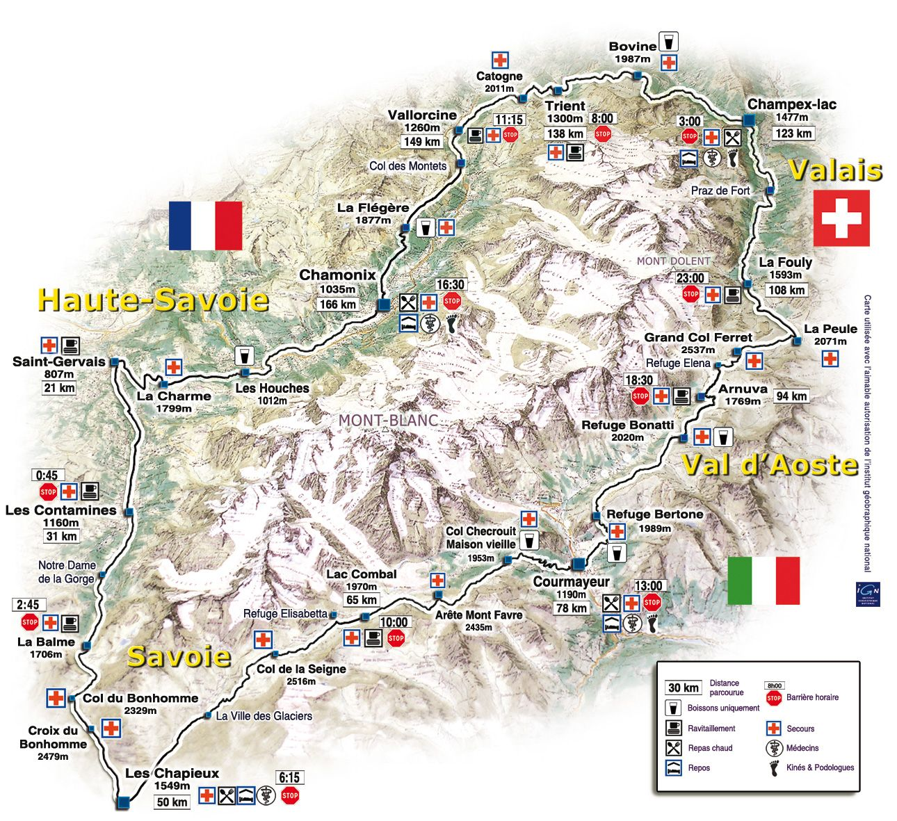 carte tour du mont blanc Carte du TMB (With images) | Mont blanc, Mont blanc map, Ski trip