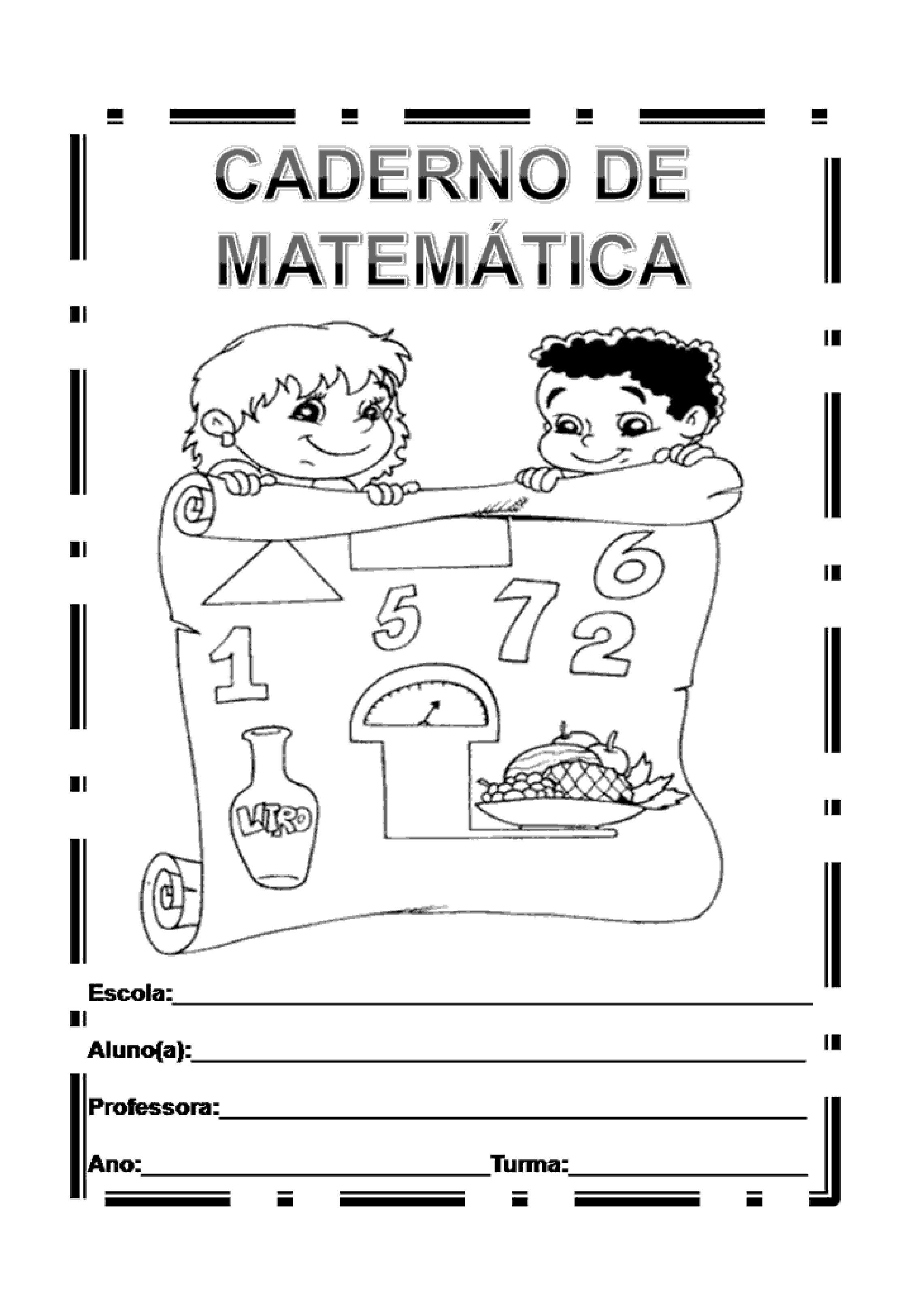 capa de caderno de matemática | crianças | Pinterest | Escolares ...