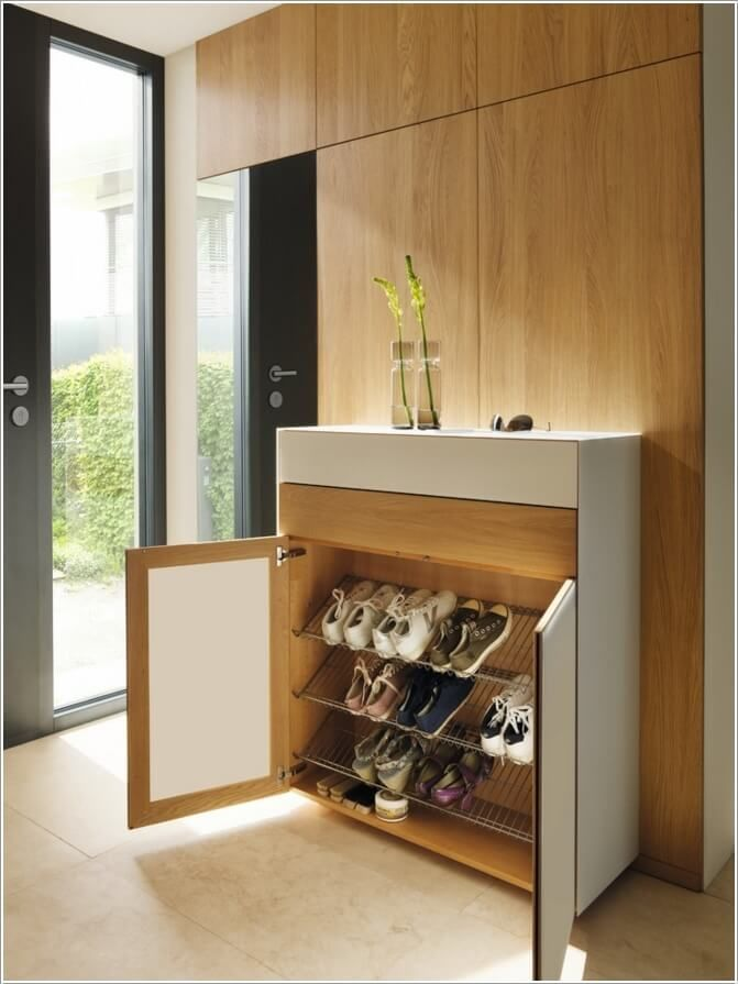 10 Places Where You Can Install A Shoe Rack 5 Shoe Storage Cum Console Pinterest Shoe Rack
