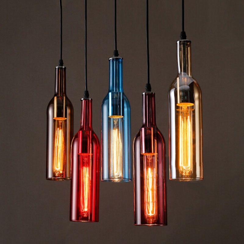 Stunning Wine Bottle Pendant Light Design Bottle Pendant Light