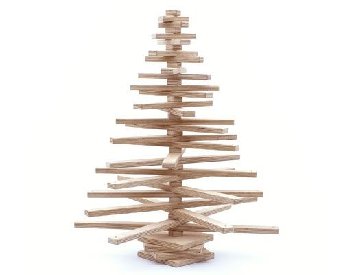 Modern Christmas Trees Wood Christmas Tree Alternative Christmas Tree Faux Christmas Trees