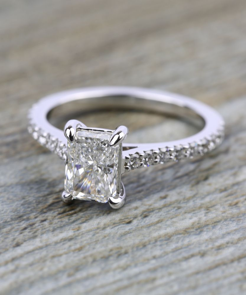 Would you wear this stunning carat radiant cut diamond