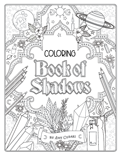 It's just a graphic of Luscious book of shadows coloring pages free