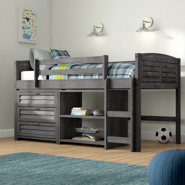 68c6b2100889 You ll love the Evan Twin Low Loft Bed with Storage at Wayfair - Great  Deals on all Baby