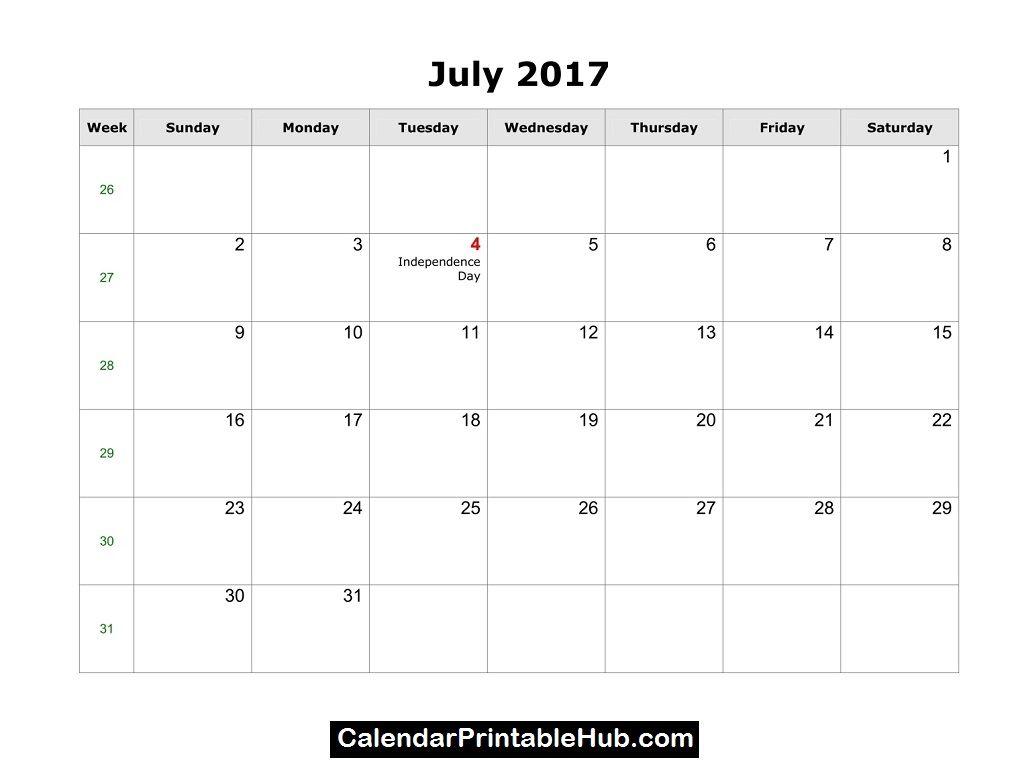 July  Calendar HttpCalendarprintablehubComJuly