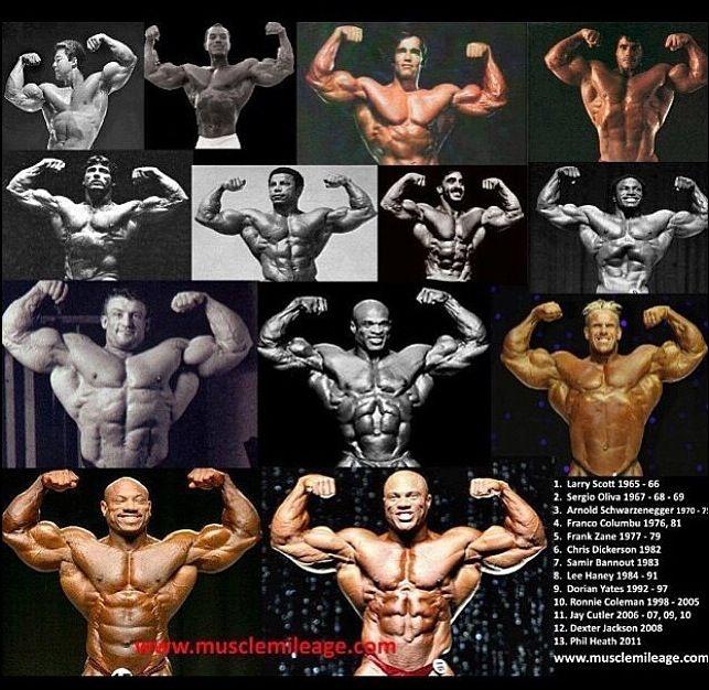All 13 LEGENDS!   Mr Olympia Winners!   Bodybuilding