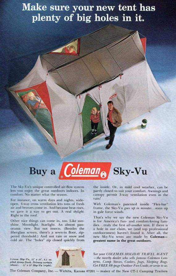 Vintage Coleman Ad Camping Equipment 1960s By SkippiDiddlePaper