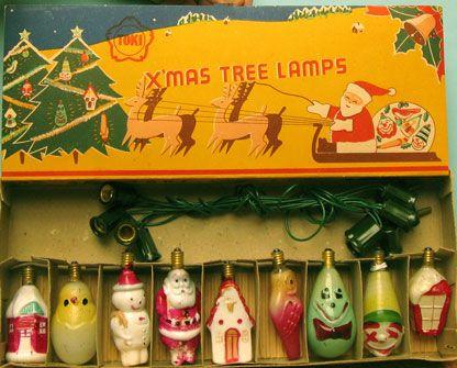 X Mas Tree Lamps 1930s Merry Christmas Vintage Vintage Christmas Lights Vintage Christmas Ornaments