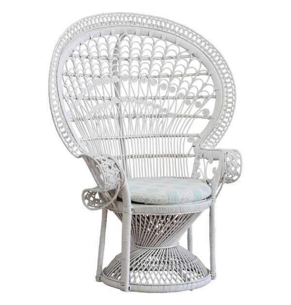 Web White Peacock Chair Kingscliff Outdoor Pinterest Peacock