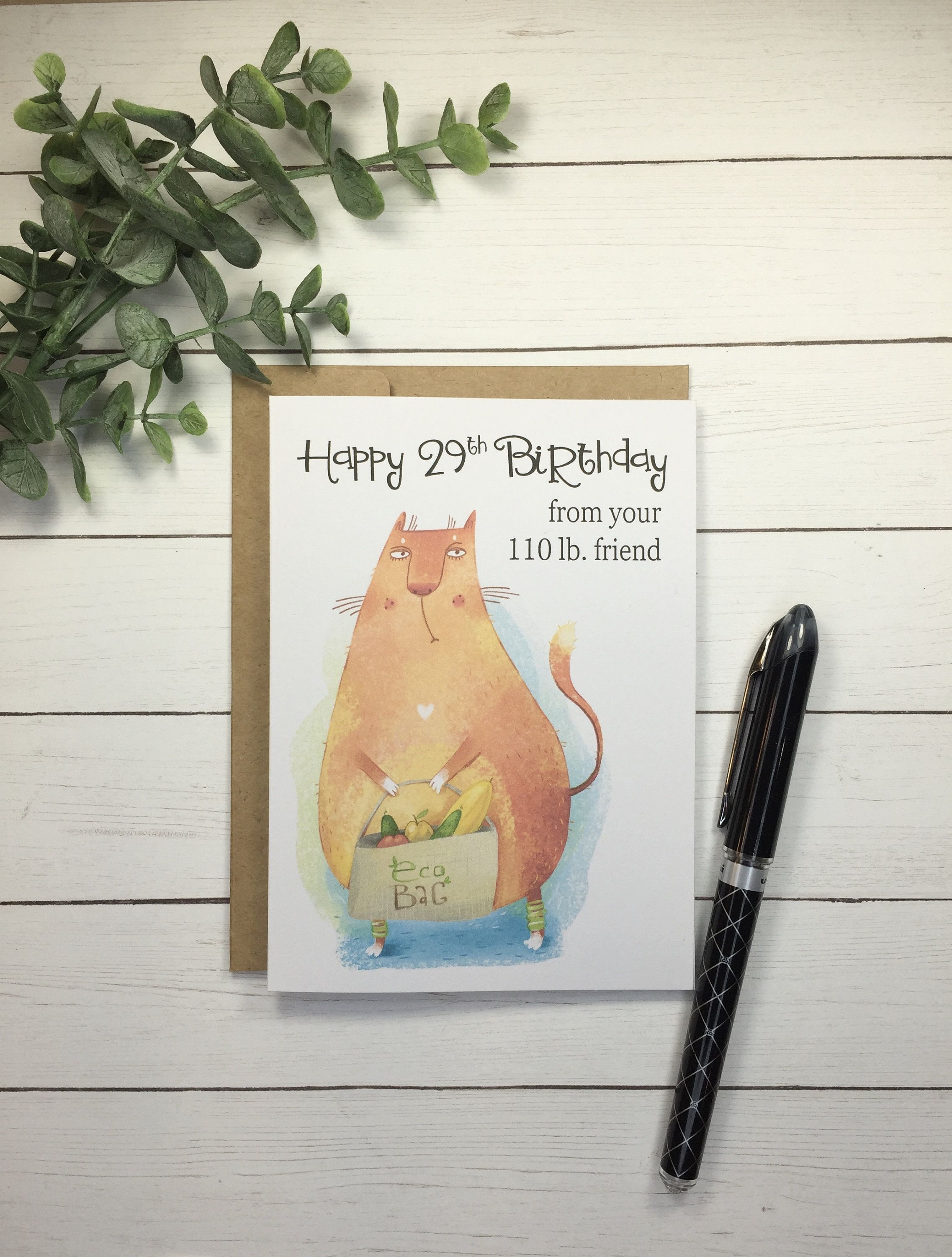 Funny Birthday Card Blank Or Your Message Inside Funny Vegan Etsy Funny Birthday Cards Birthday Cards Birthday Humor