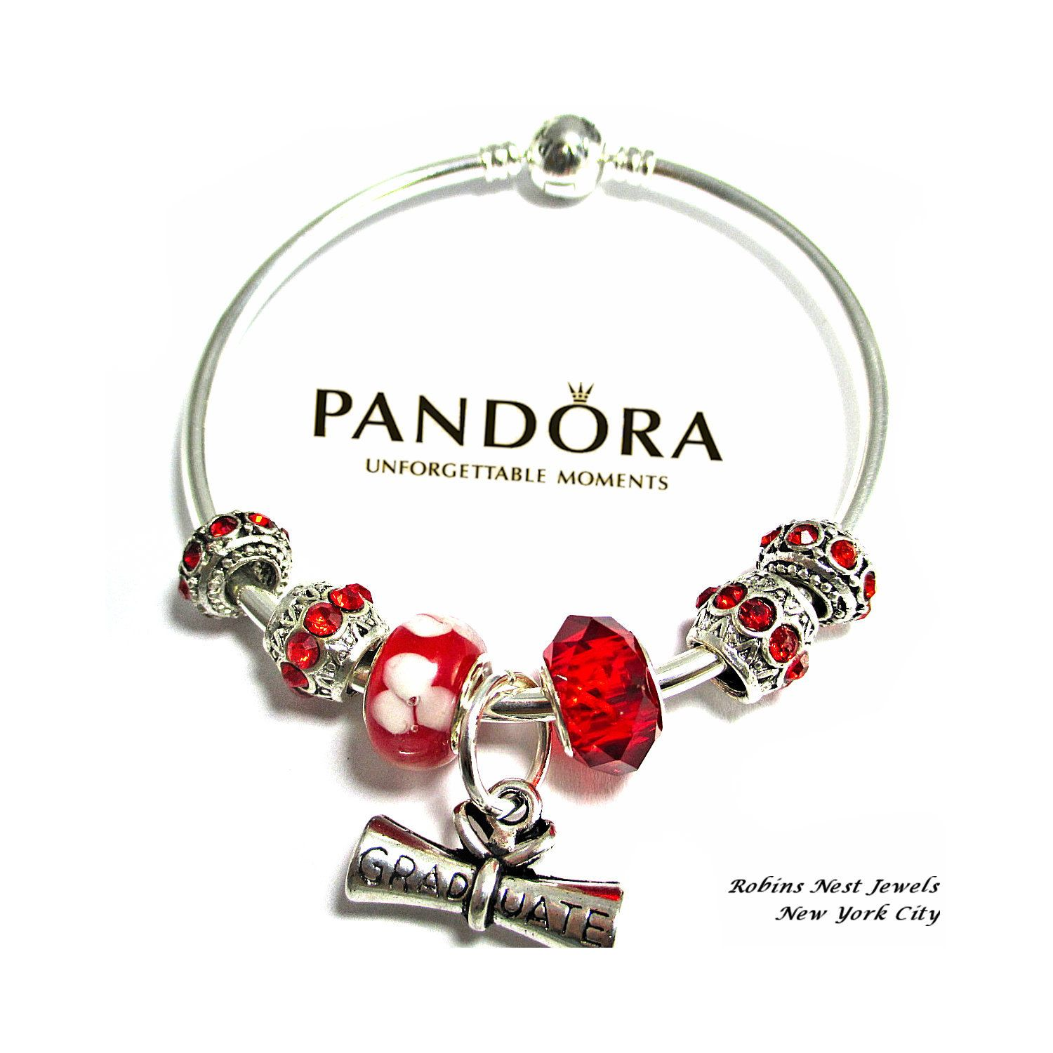 Authentic Pandora Graduation Bracelet Bangle Charm Sterling Silver Non Branded Charms Graduate