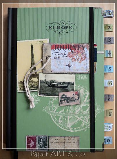 Abschiedsgeschenk Auslandsjahr pimp me reisetagebuch manualidades reisetagebuch