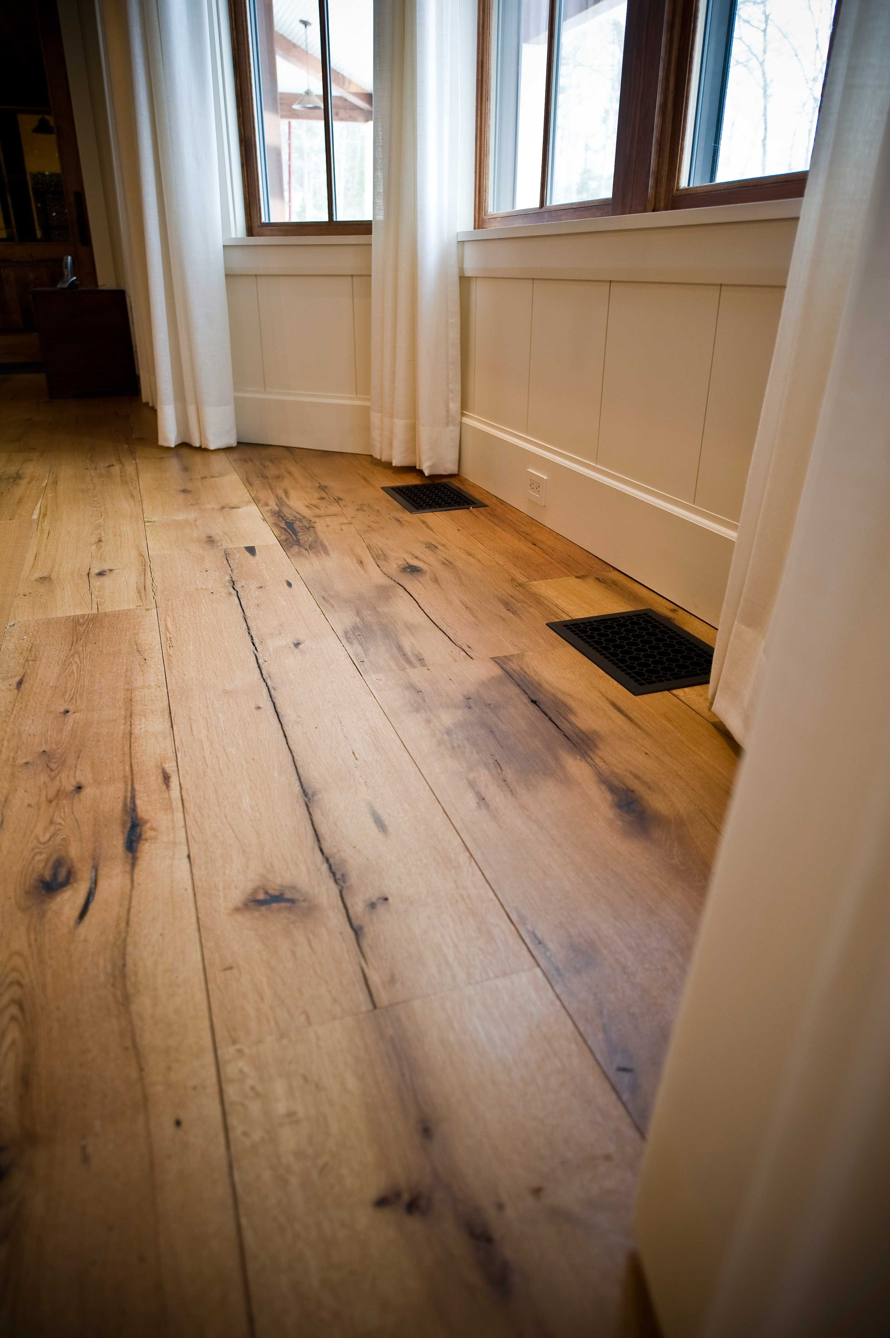 A Mixed Width Reclaimed White Oak Floor Milled For A
