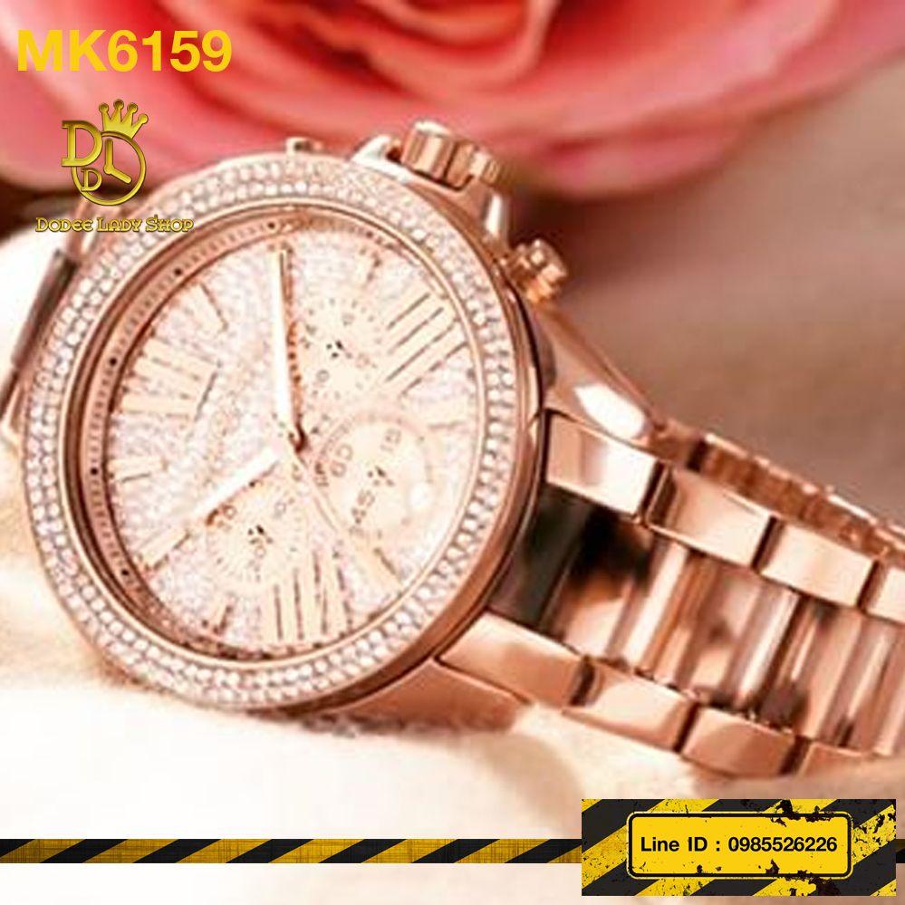 0e335191a7bd นาฬิกาข้อมือ Michael Kors รุ่น MK6159 MICHAEL KORS Wren Chronograph Crystal  Pave Dial Rose Gold