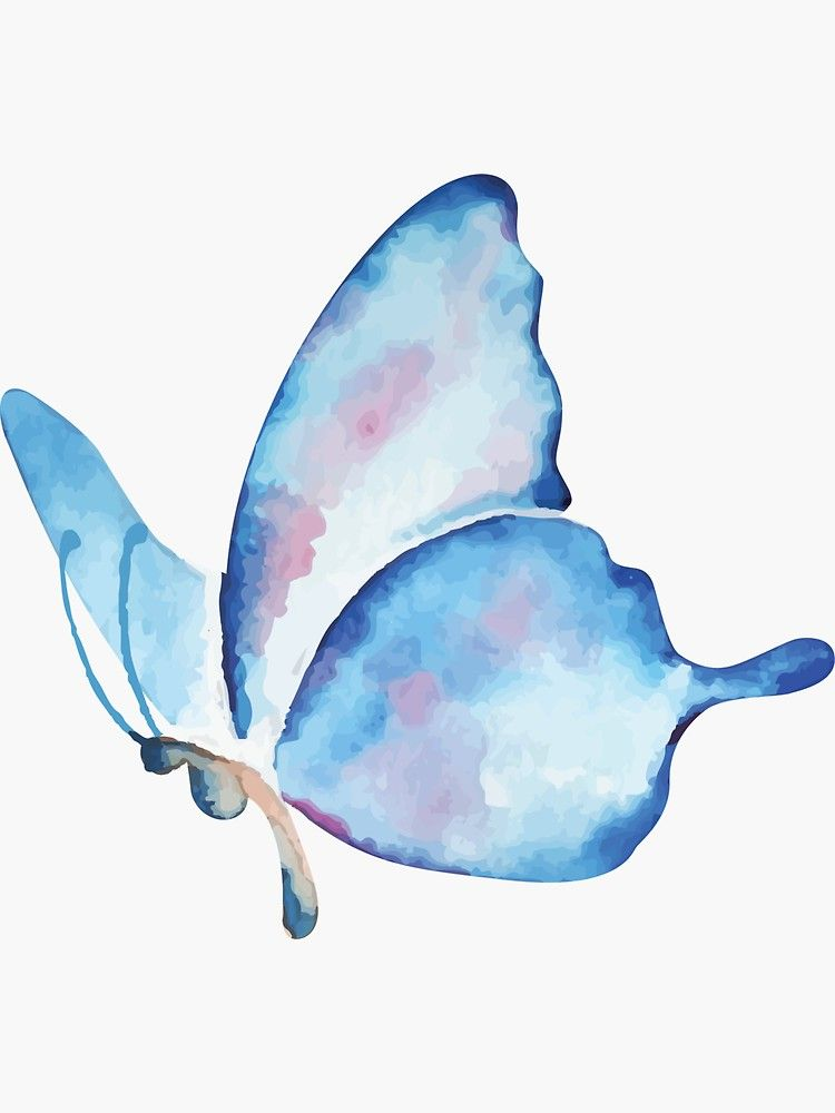Beautiful Watercolor Butterfly Pattern Sticker By Larkdesigns In