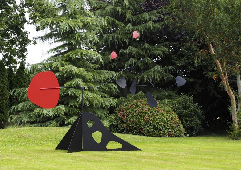 Stabile De Jardin Piece Unique Sculpture Mobile En Inox Laque