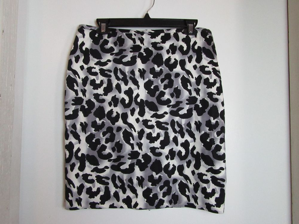 Animal Print Skirt Cache Size 10 Fully Lined #Cache #StraightPencil
