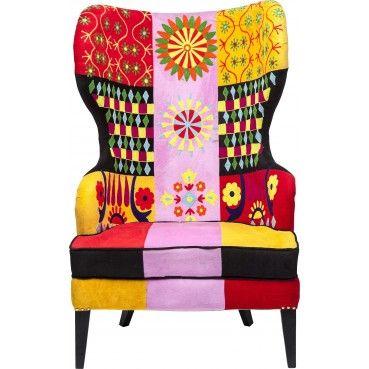 -20% en ce moment sur ce #fauteuil à oreilles Fiesta Colore #Kare Design à l'occasion des #soldes d'hiver !  Un fauteuil #patchwork à oreilles, original et #tendance, avec des motifs qui mettent en contraste le #style moderne et classique. Idéal pour apporter une touche de #couleur à votre pièce.