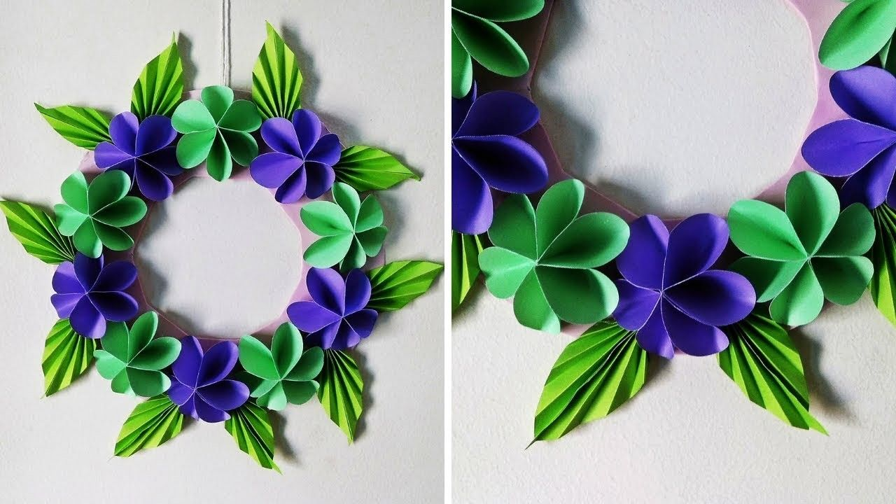Diy paper flower wall hanging simple home decor wall