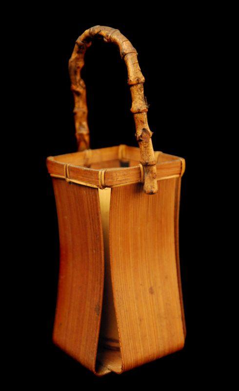 Bent Bamboo Small Basket Bamboo Weaving Bamboo Crafts Small Basket