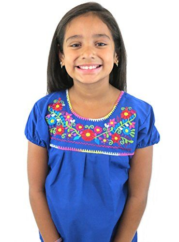 5c6586102 Leos Imports TM Girls Puebla Mexican Blouse Ages 10 Royal Blue *** Be sure  to check out this awesome product.(It is Amazon affiliate link) #company