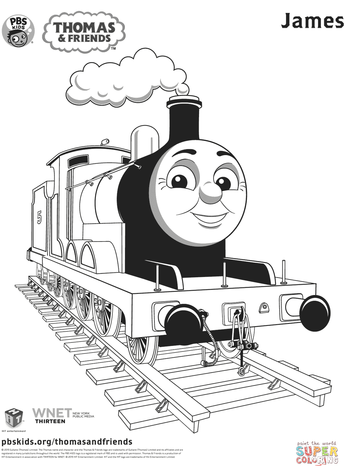 Thomas Coloring Page Thomas Friends Coloring Pages Free