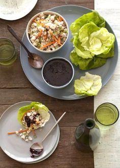 Recipe: Chicken Lettuce Wraps with Homemade Plum Sauce (low sodium ...