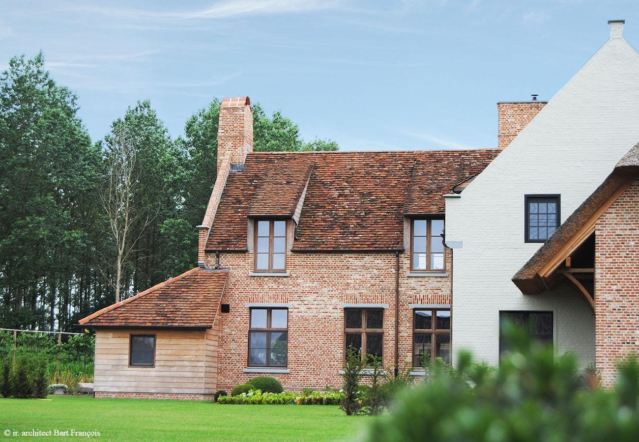 Combinatie hout steen kalei bart françois houses