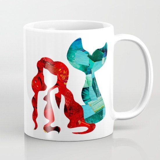 Mermaid Mug, Mother's day gift, Coffee lover gift, coffee mug, coworker gift, Ceramic mug, gifts under 20