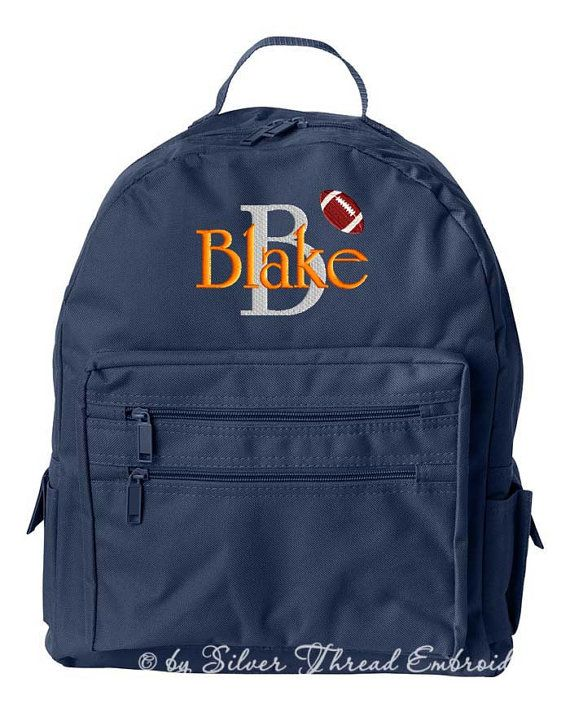 Boys Personalized Backpack Monogrammed Initial Name School ...