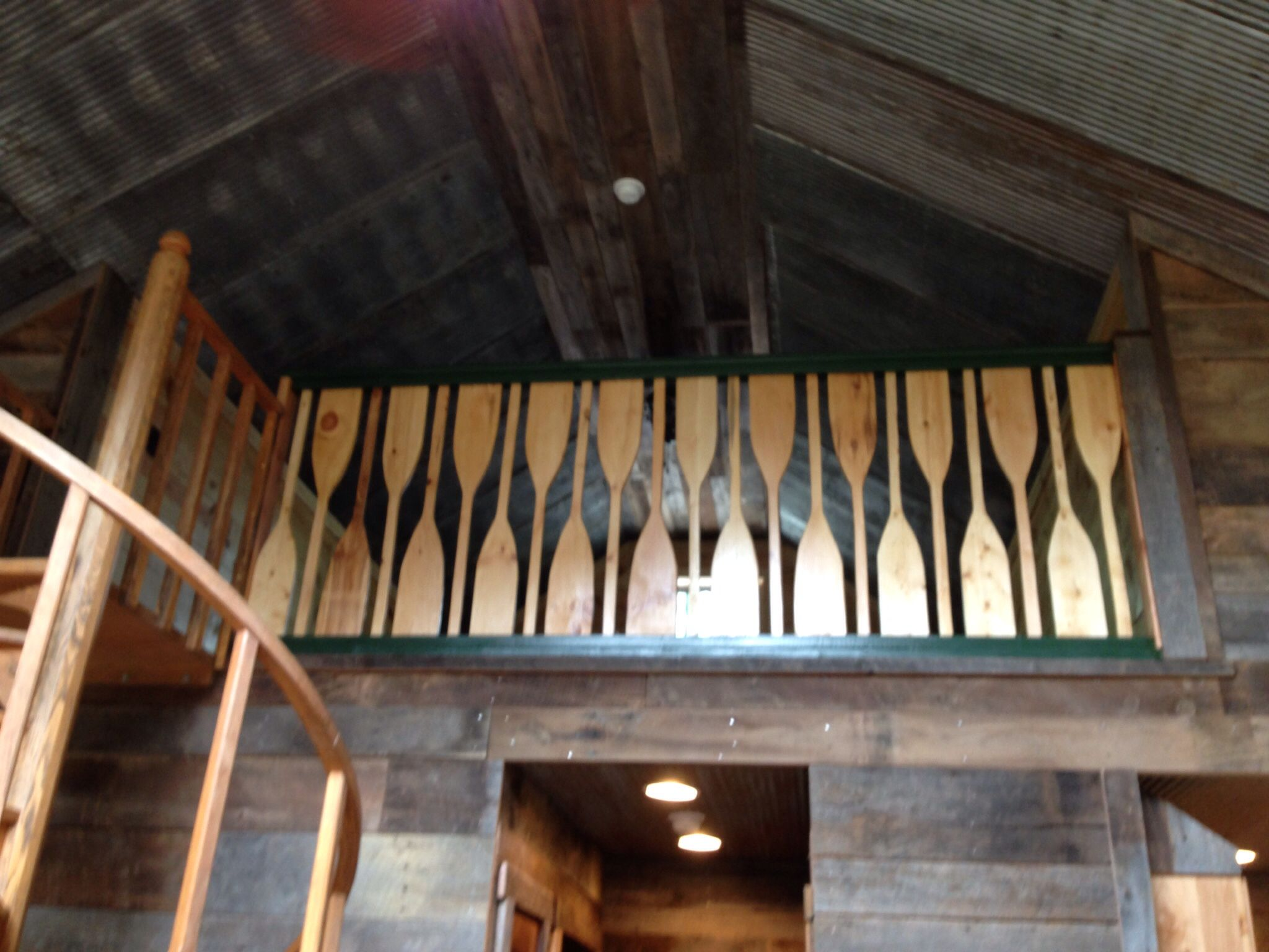Boat Paddle Railing Our Cabin Cottage Stairs Wood