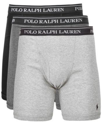 2dde0cfef430 Polo Ralph Lauren Men's 3-Pk. Classic Cotton Boxer Briefs - Gray Assorted L