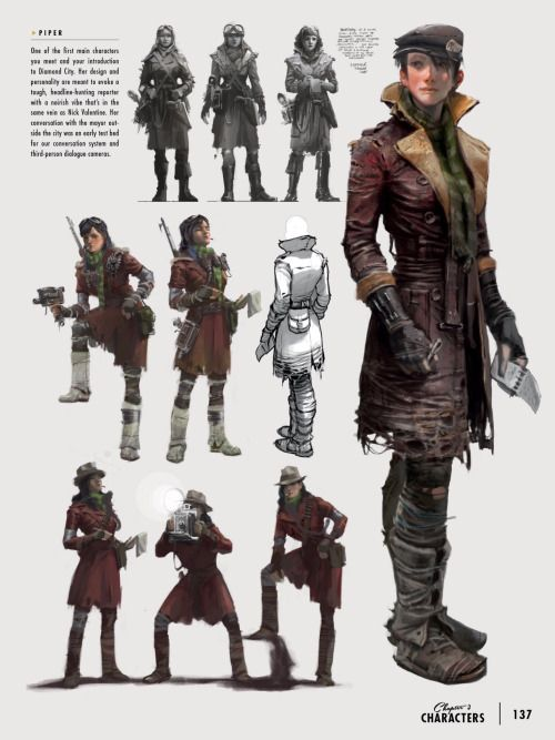 Fallout 4 Character Design Tutorial : Fallout gaming piper wright in the art of