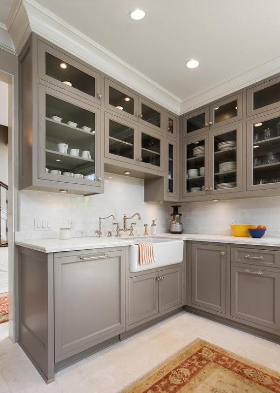 Taupe Kitchen Cabinets Kitchen Pinterest Kitchen