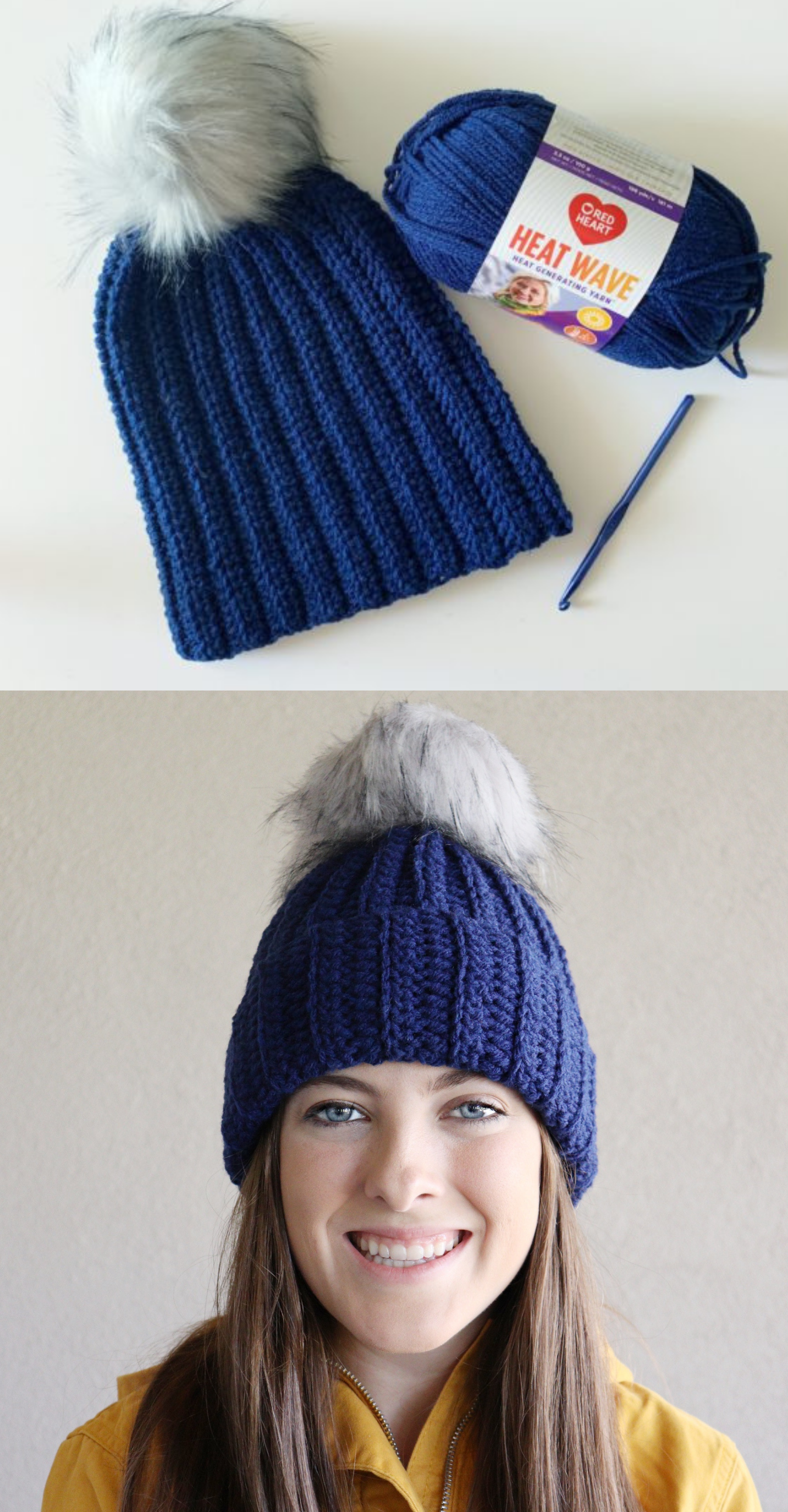 Free Pattern - Back Loop Half Double Crochet Hat #crochethooks