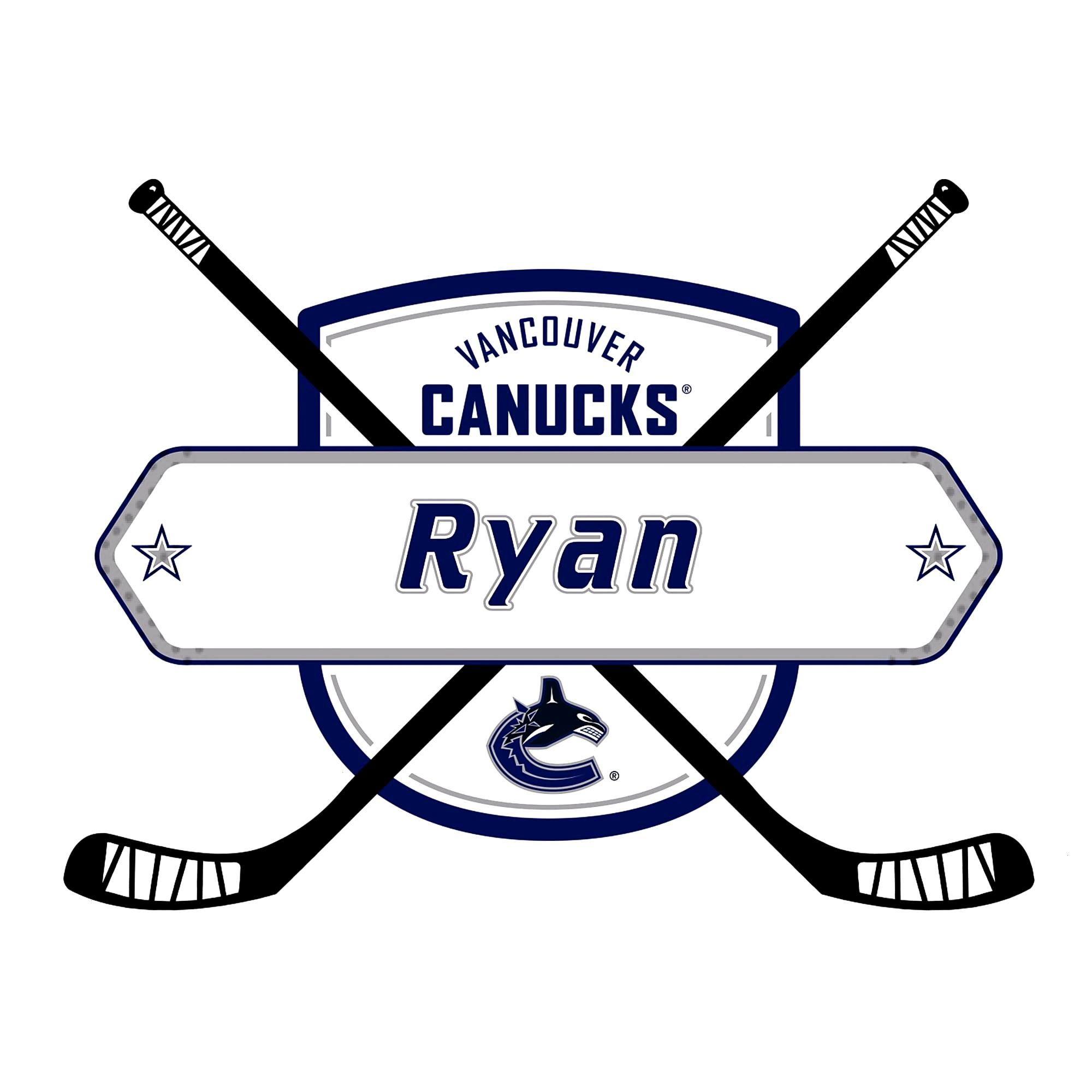 Vancouver Canucks: Personalized Name - Giant NHL Transfer DecalYou can find Los angeles kings and m