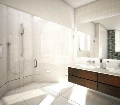 badezimmer-design-mit-fliesen-edles-holz-glastüren Einrichten - edle badezimmer nice ideas