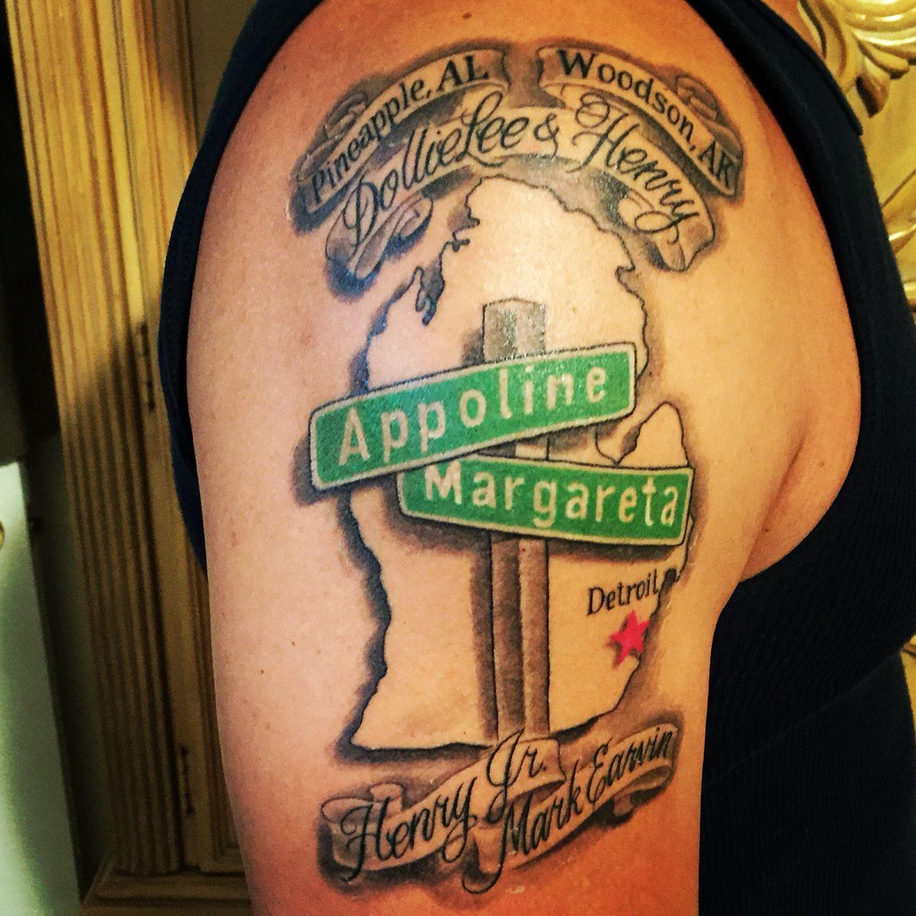 Detroit michigan family tattoo my detroit pinterest for Tattoos in detroit