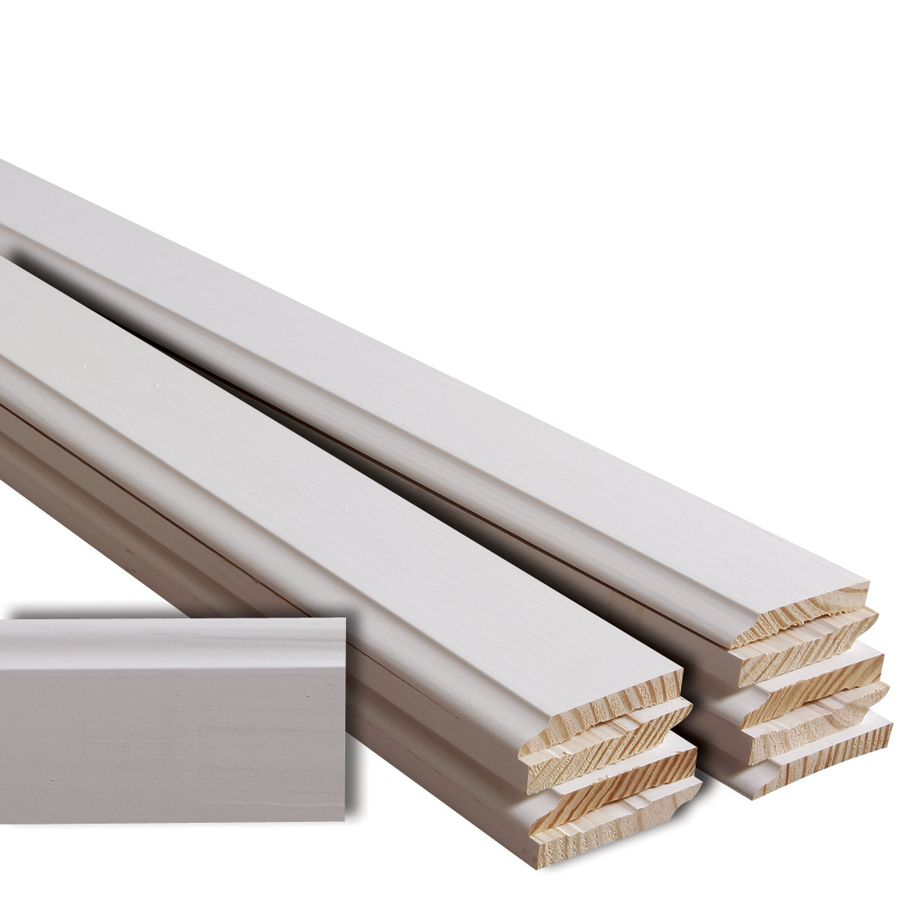 Evertrue 3 1 2 In X 16 Ft Primed Baseboard Moulding Actual 3 5