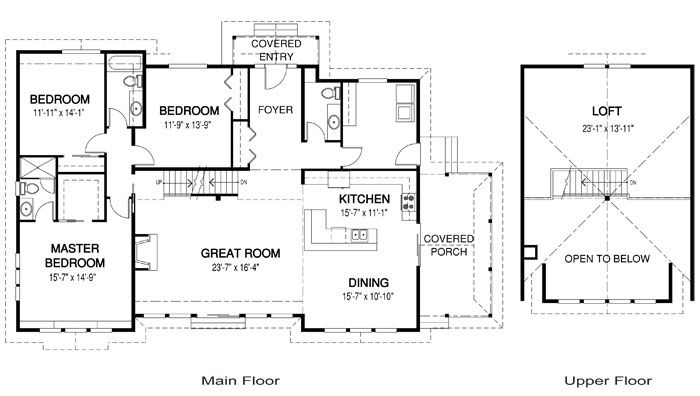 Red Leaves Floor Plan With Loft